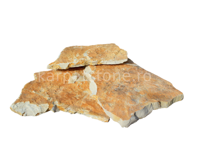 Adria - Rustic yellow limestone, irregular form, with 1-2 cm thickness