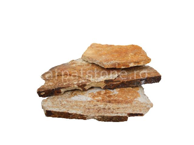 Eskola - Gnais auriu, formă neregulată (poligonală) cu grosime între 1,5-3 cm, este disponibil în plăci mari şi în plăci mici