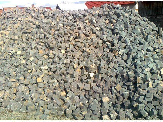 Gurghiu - Grauer Andesit - Quadratstein 10 x 10 x 4-6 cm