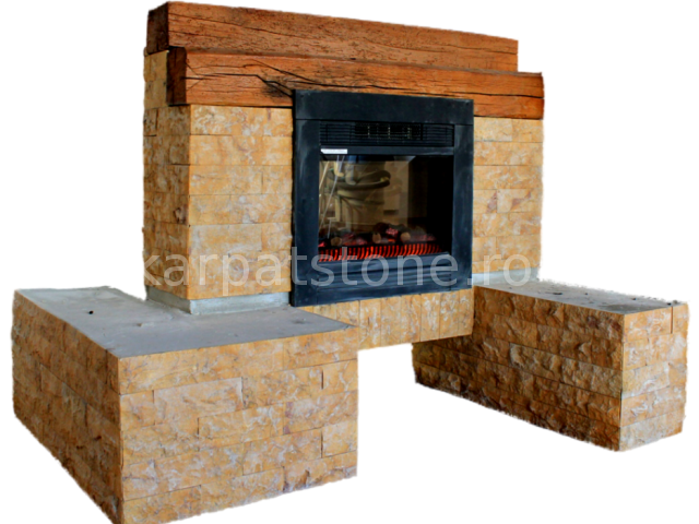 Euphrates - Dark yellow limestone, cutted 8 x 22 x 1-1,5 cm