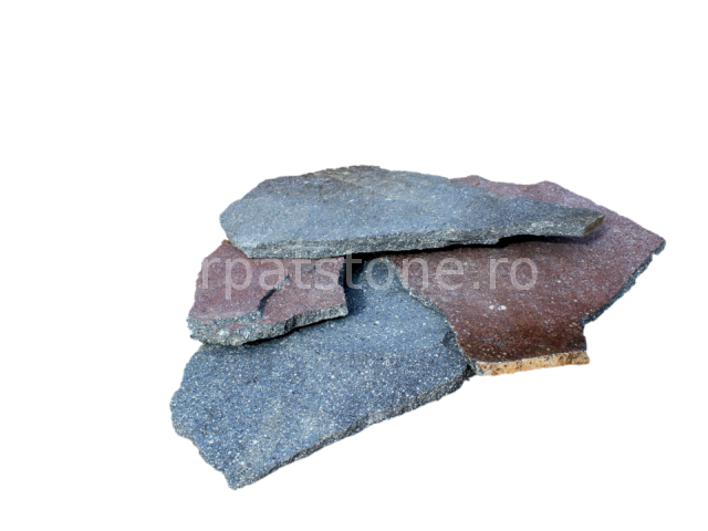 Enkara - Blue-lilac andesite, irregular form with 1-2,5 and 2,5-5 cm thickness