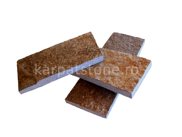 Enkara - Brown-grey andesite, cutted 10 cm x free length