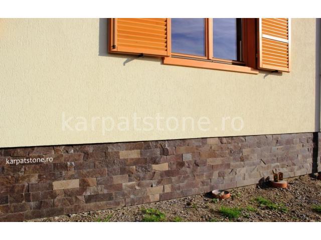 Enkara - Brown-grey andesite, cutted 10 cm x free length