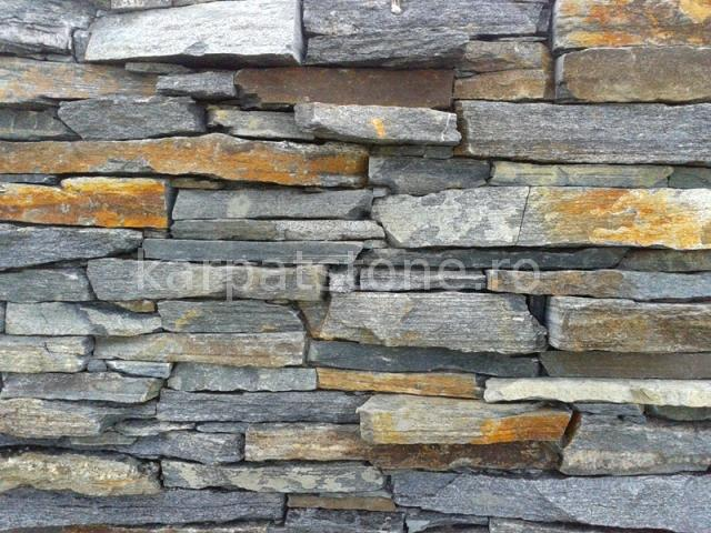 Eskola - Dark green gneiss, mediterranean style for exterior and interior wall cladding