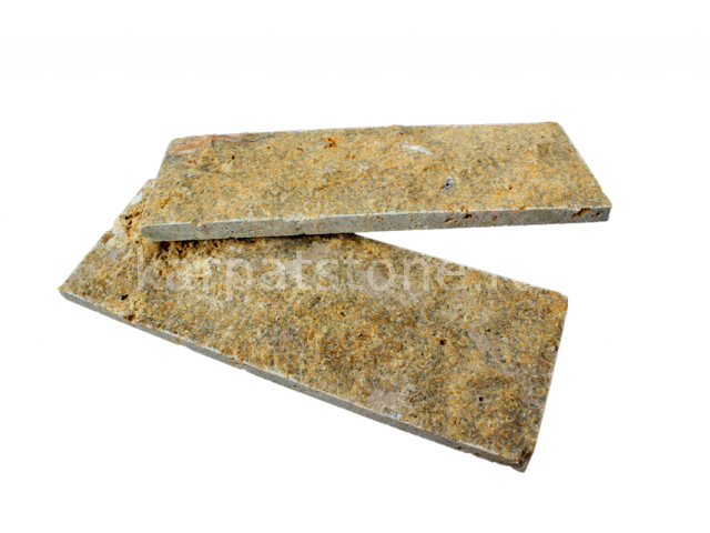 Euphrates - Mustard-brown limestone, cutted 8 x 22 x 1-1,5 cm