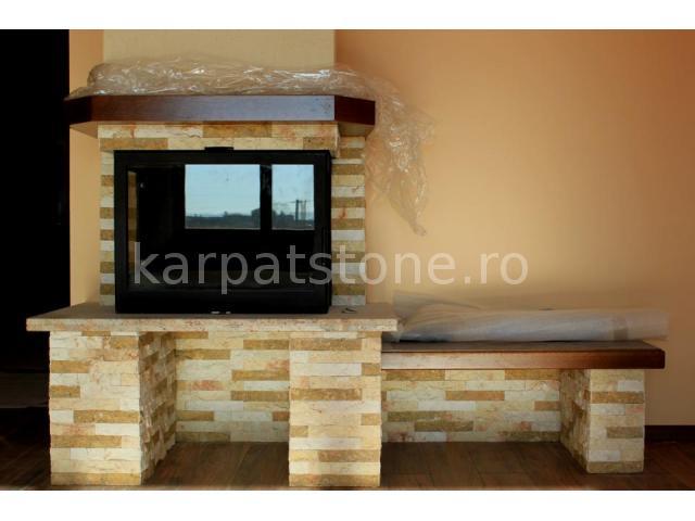 Euphrates - Mustard-brown limestone, narrow strips