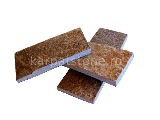 Enkara - Barna-szürke andezit 10 cm x változó hossz, kül és beltérre egyaránt alkalmazható