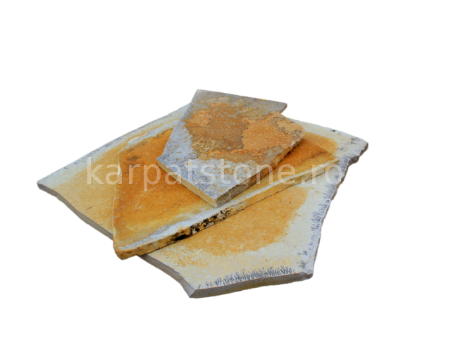 Solnhofen - Calcar galben 5-7, 8-12 mm, neregulata (poligonala) folosita la placari, dar si pentru pavat terase acoperita sau neacoperita, la scari