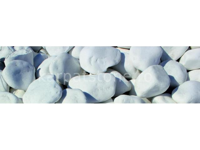 Alb ca zăpada 60-120 mm, Piatră rotundă ornamentală