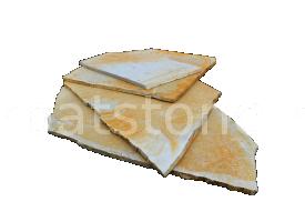 Solnhofen - Calcar galben 5-7, 8-12, 13-19 mm, neregulata (poligonala) folosit la placari interioare si exterioare